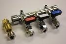 Gas Manifold 8mm 3 Way